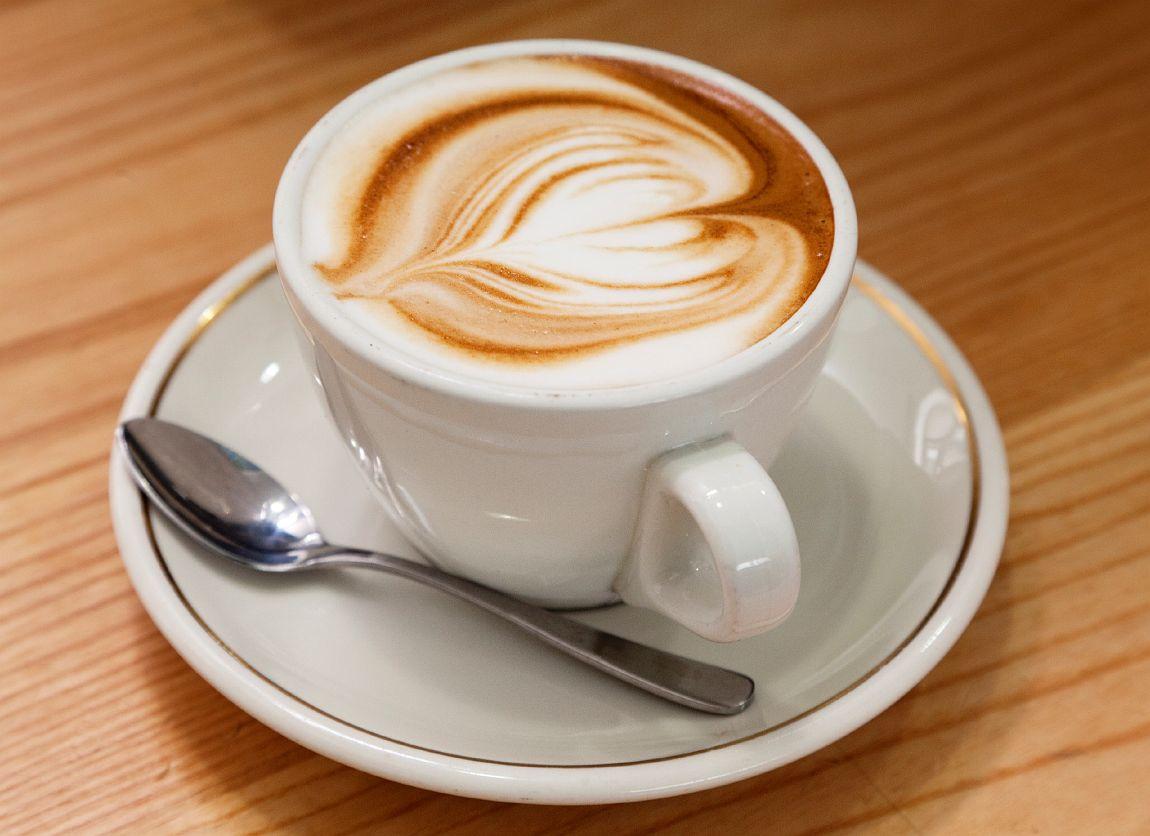 a stylish cappuccino