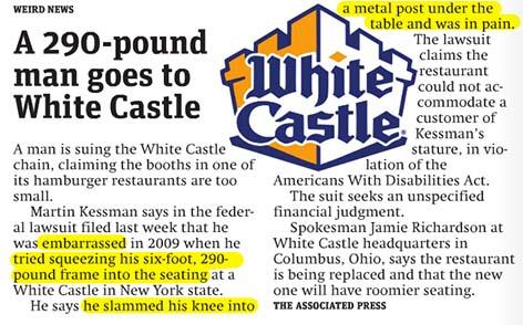 White Castle lawsuit article