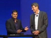 Thorsten Heins and Vivek Bhardwaj show off the BlackBerry 10