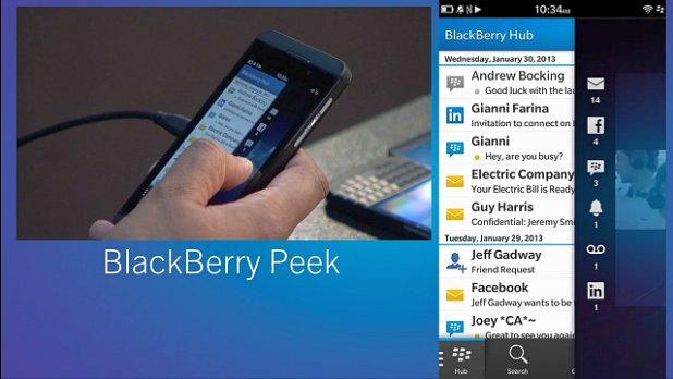 BlackBerry 10 peek reveals more
