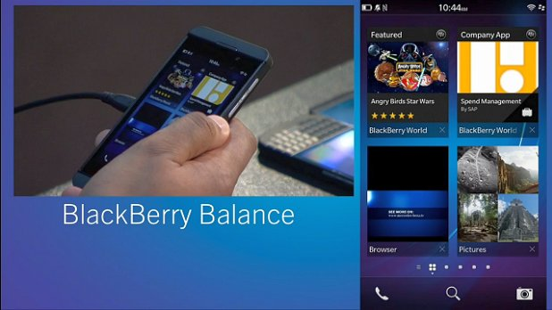 BlackBerry 10 Balance lets you create multiple workspace profiles