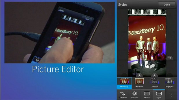 Crop, resize, and slap on special effects with the BlackBerry 10 photo editor