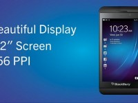 BlackBerry 10 Z10 screen display