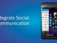 BlackBerry 10 Hub Social Media integration