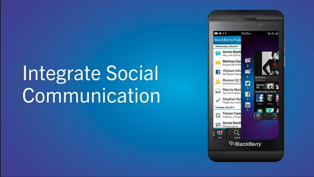 BlackBerry 10 Hub Social Media integration