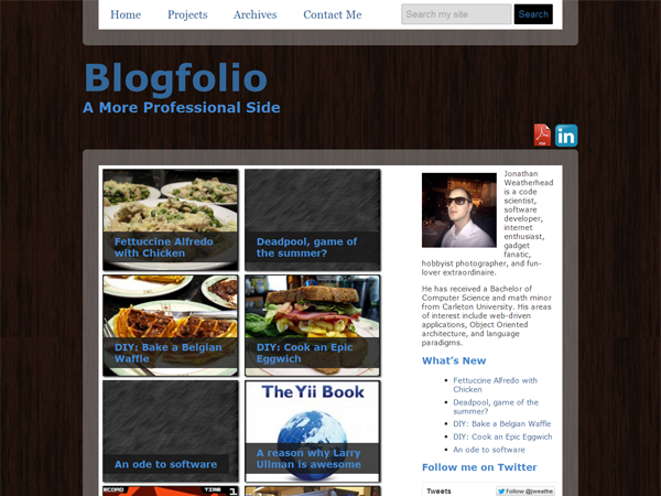 screenshot of Blogfolio theme