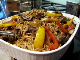 Szechuan steak stir fry