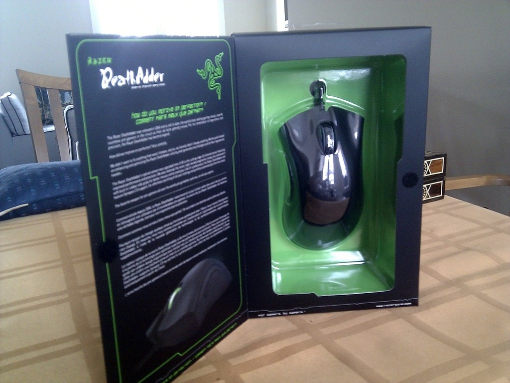 The DeathAdder unveiled.