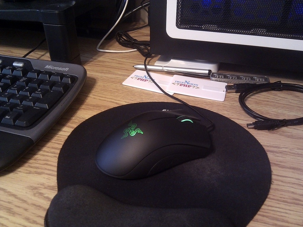 The DeathAdder ready for frags.