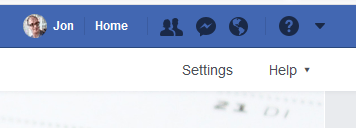 facebook page settings action